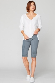 XCVI Wearables Frayed Relaxed Tee - Front cropped