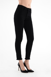 just black Frayed Skinny Jean - Front cropped