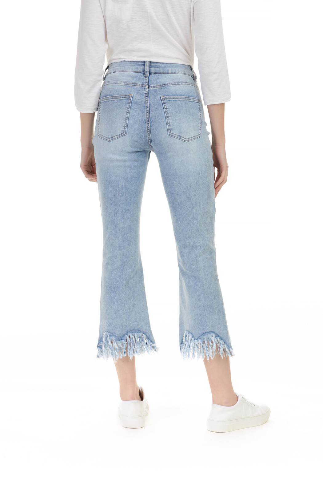 Charlie B. Frayed Stretch Denim - Side Cropped Image