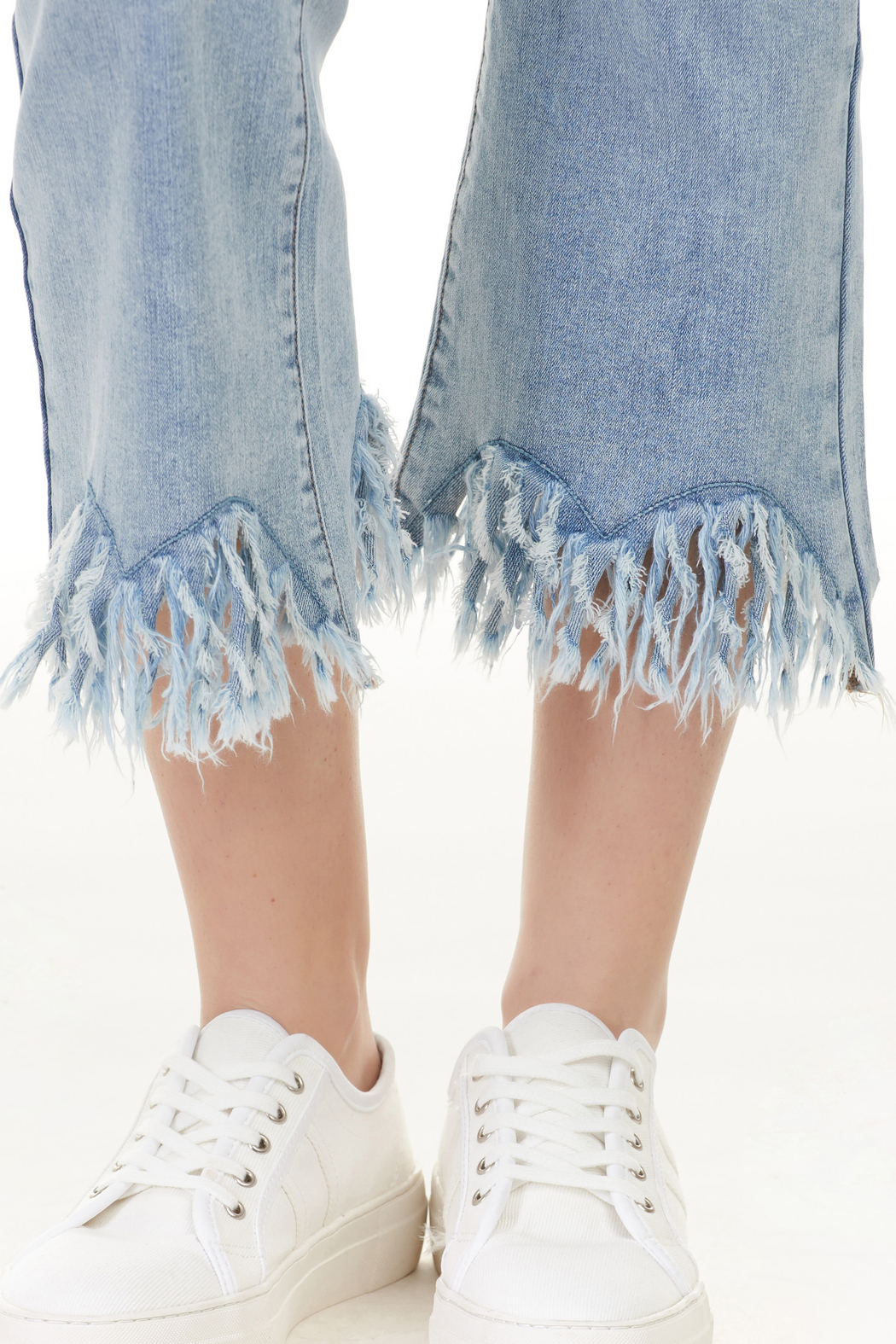 Charlie B. Frayed Stretch Denim - Back Cropped Image