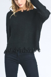 storia Frayed V-Neck Sweater - Product Mini Image