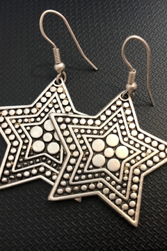 Frazil Silver Star Earrings - Product List Image