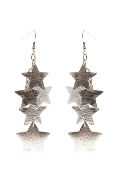 Shoptiques Product: Stacked Star Earrings