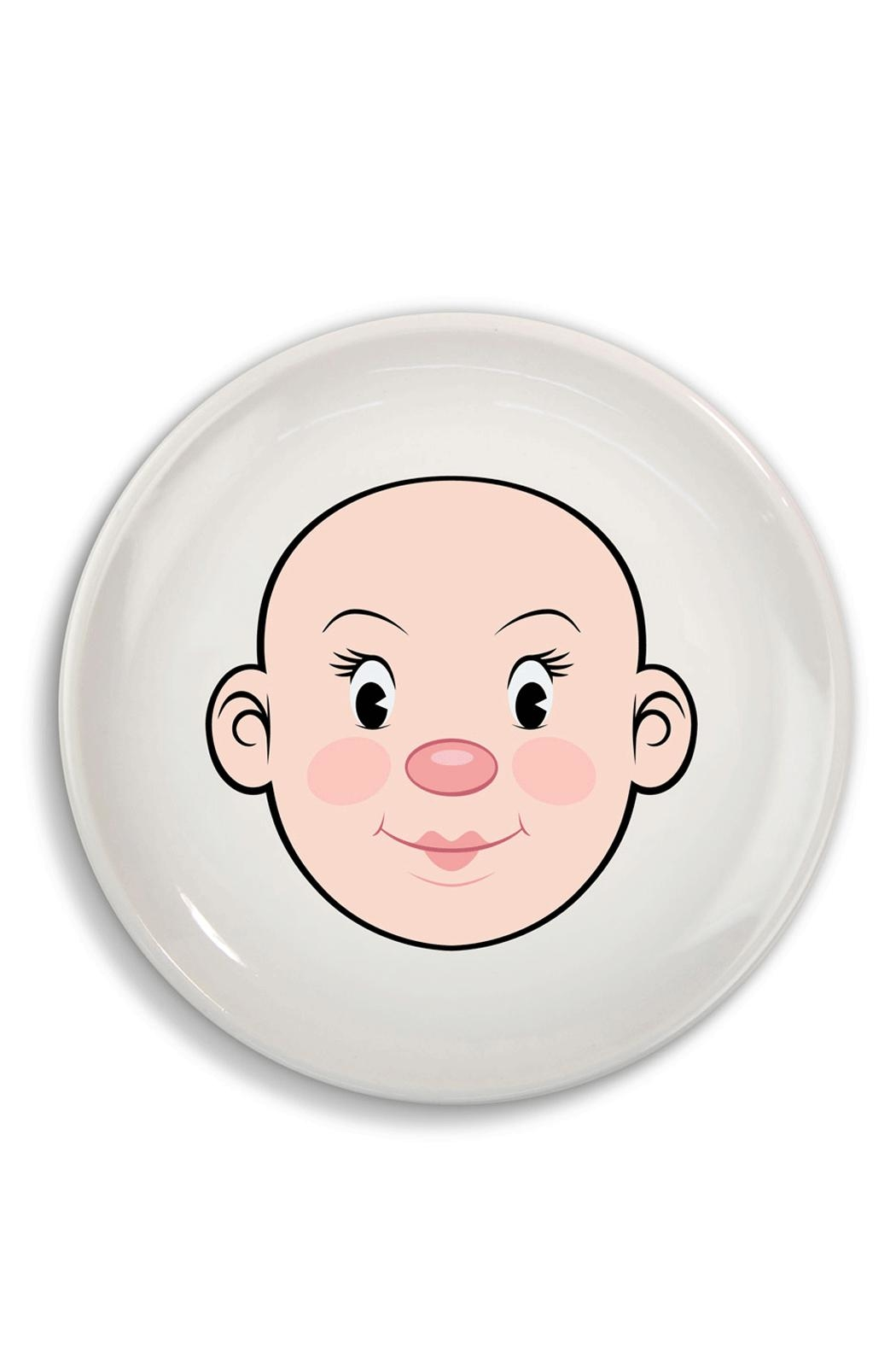 Fred & Friends Ceramic Food Face Plate - Front Full Image