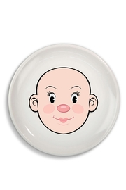 Fred & Friends Ceramic Food Face Plate - Front full body