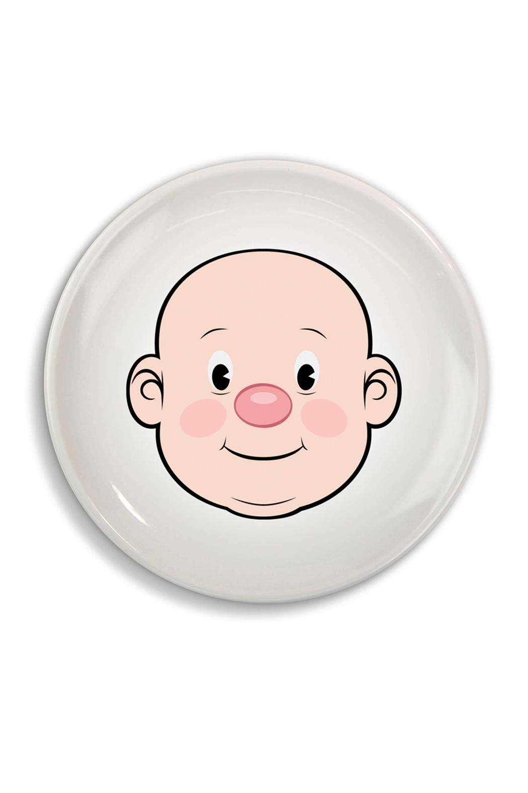 Fred & Friends Ceramic Food Face Plate - Main Image
