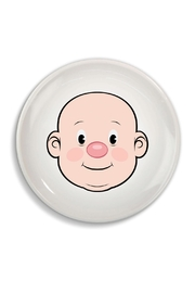 Fred & Friends Ceramic Food Face Plate - Front cropped