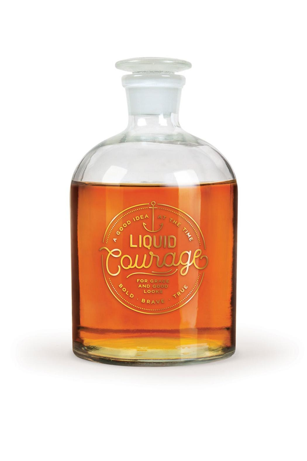Fred & Friends Liquid Courage Decanter - Front Full Image