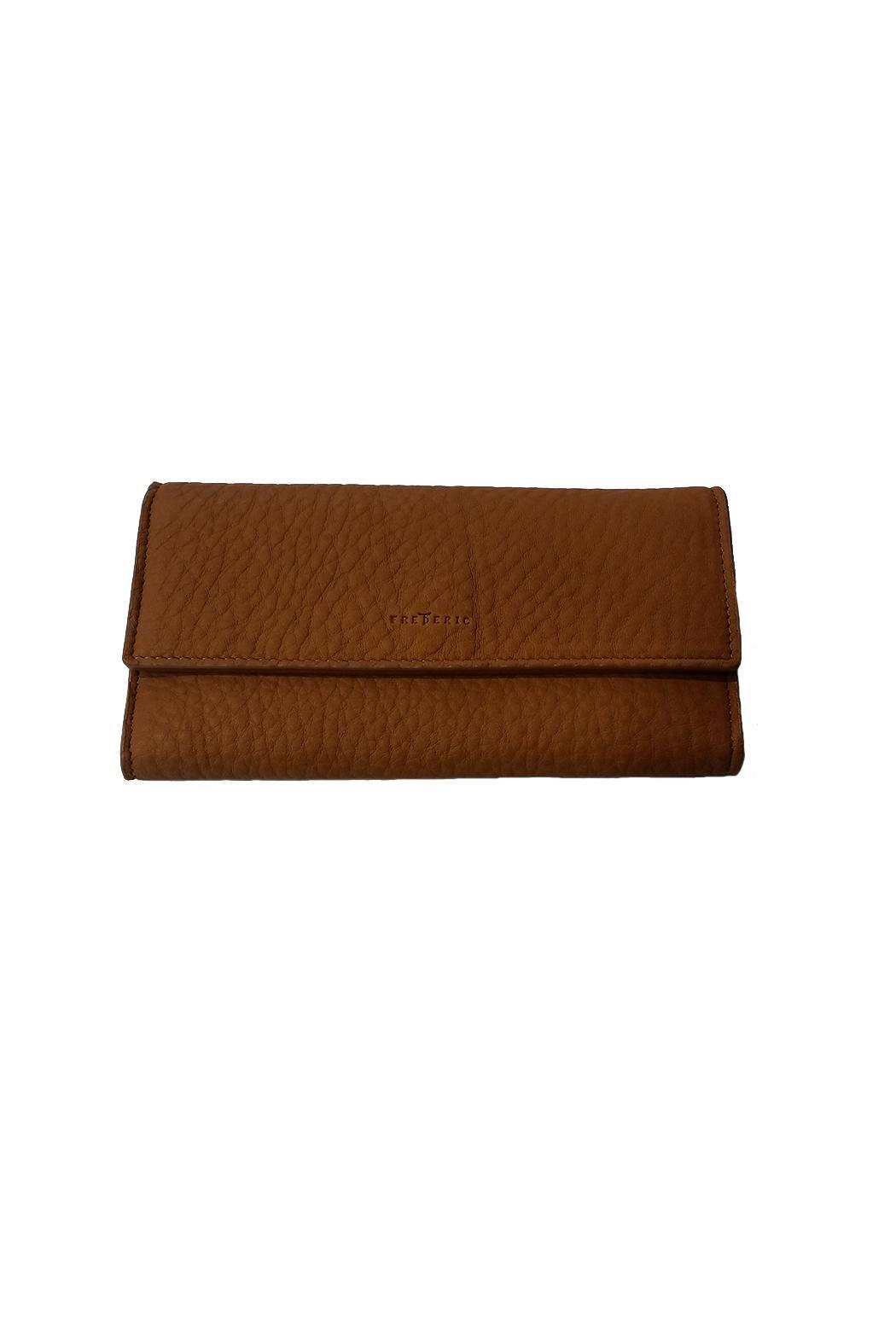 FREDERIC PARIS Brown Leather Wallet - Main Image