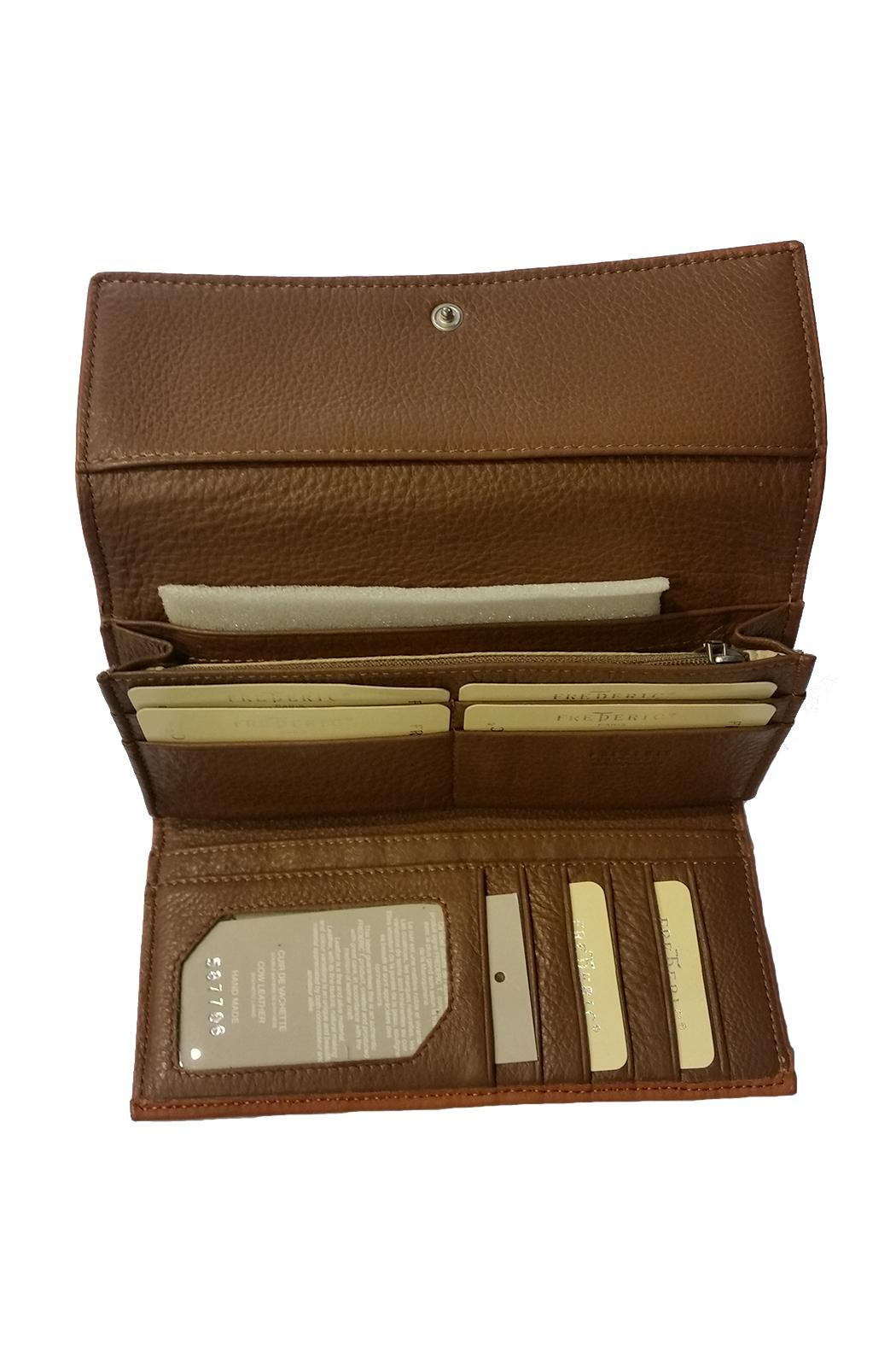 FREDERIC PARIS Brown Leather Wallet - Front Full Image