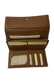 FREDERIC PARIS Brown Leather Wallet - Front full body