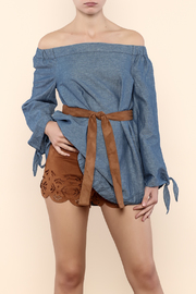 Free People Chambray Off Shoulder Tunic - Product Mini Image