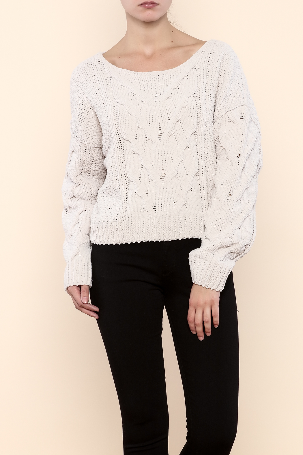 Free People Chunky Cropped Sweater from Long Island by Max ...