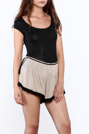 Free People Black Fitted Bodysuit - Product Mini Image