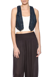 Free People Crop Denim Vest - Product Mini Image