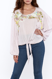Free People Blush Embroidered Blouse - Product Mini Image