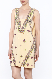 Free People Yellow Embroidered Sleeveless Dress - Product Mini Image