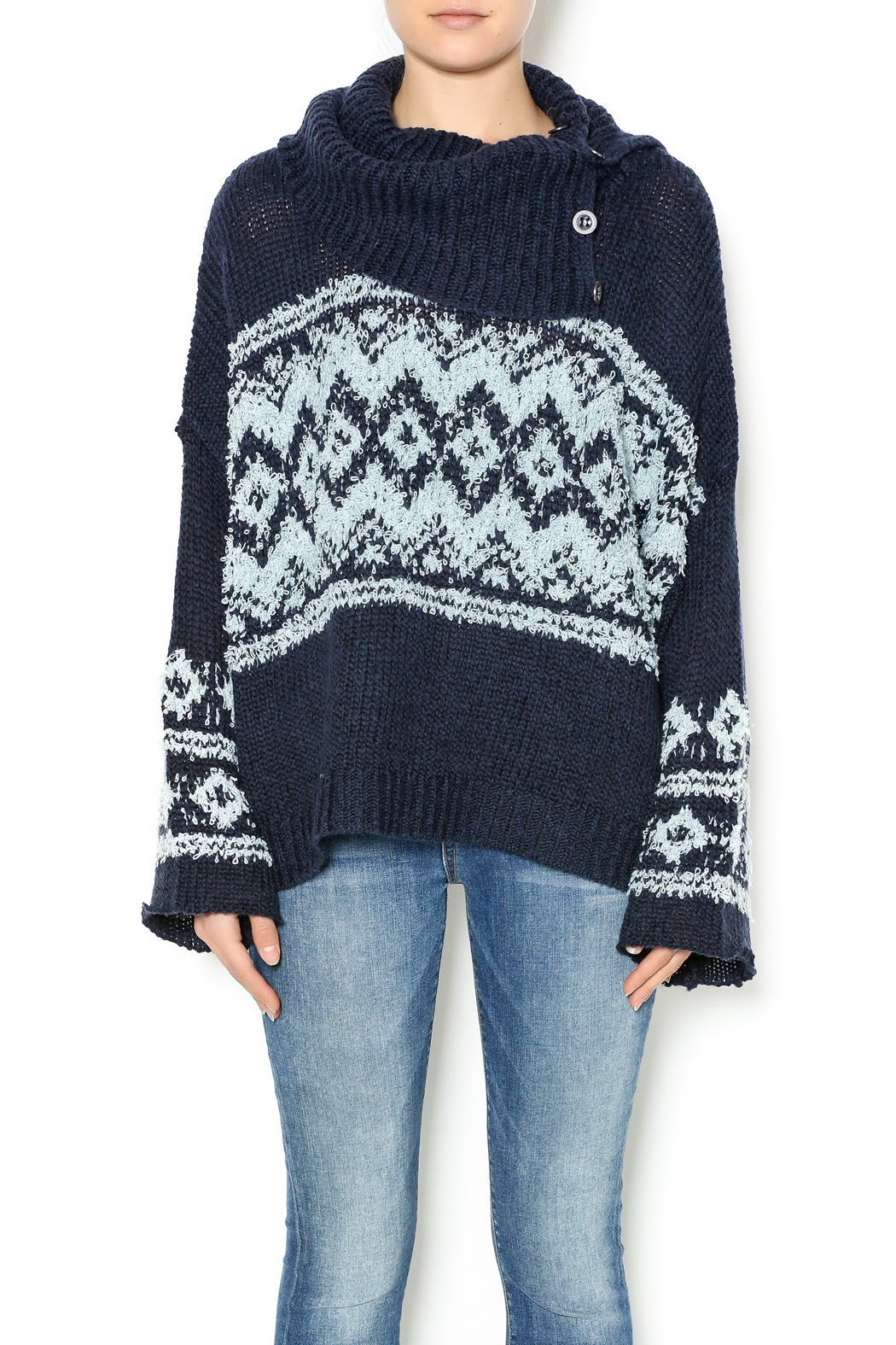 Free People Fairisle Split-Neck Sweater from New Hampshire by LR ...