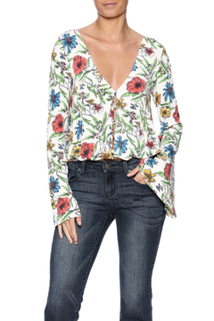 Shoptiques Product: Floral Bell Sleeve Top