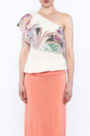 Free People Floral One Shoulder Top - Front full body