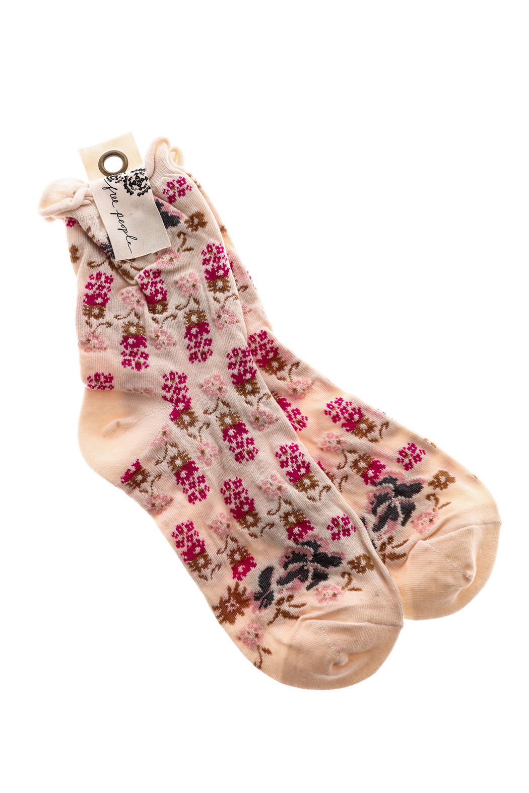 Free People Floral Print Ankle Sock - Main Image