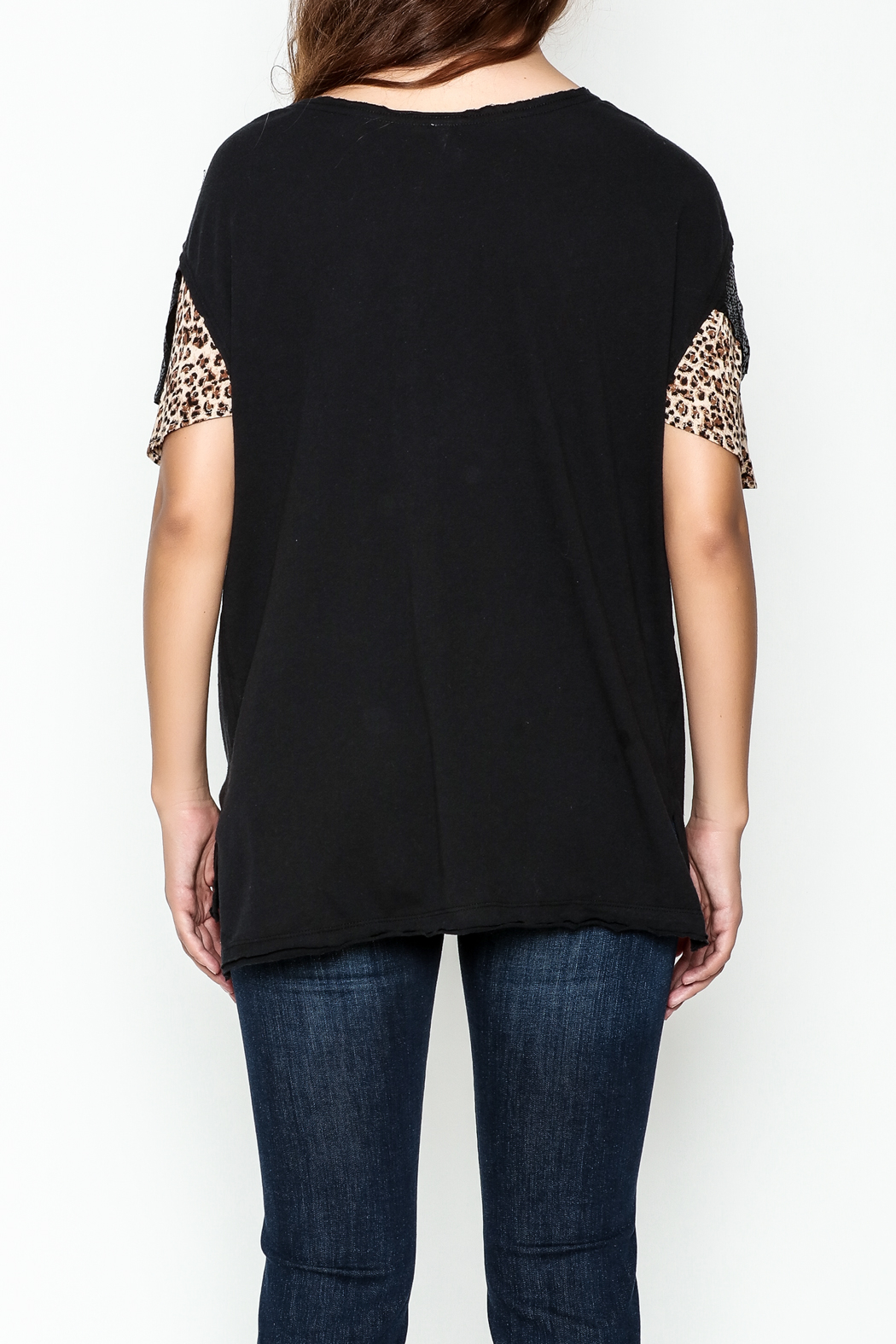 Free People Flutter Sleeve Graphic Tee - Back Cropped Image