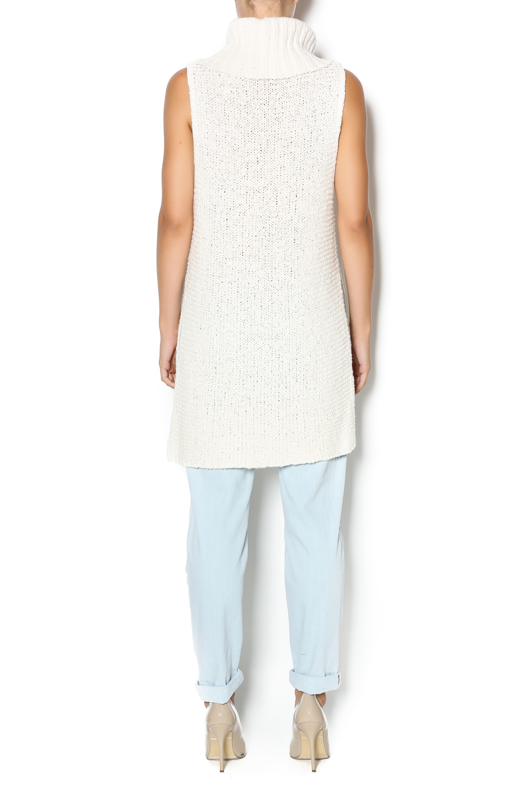 Free People Ivory Comb Turtleneck - Side Cropped Image