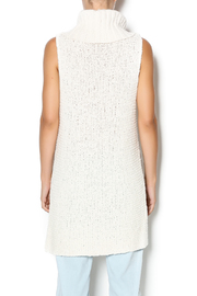 Free People Ivory Comb Turtleneck - Back cropped