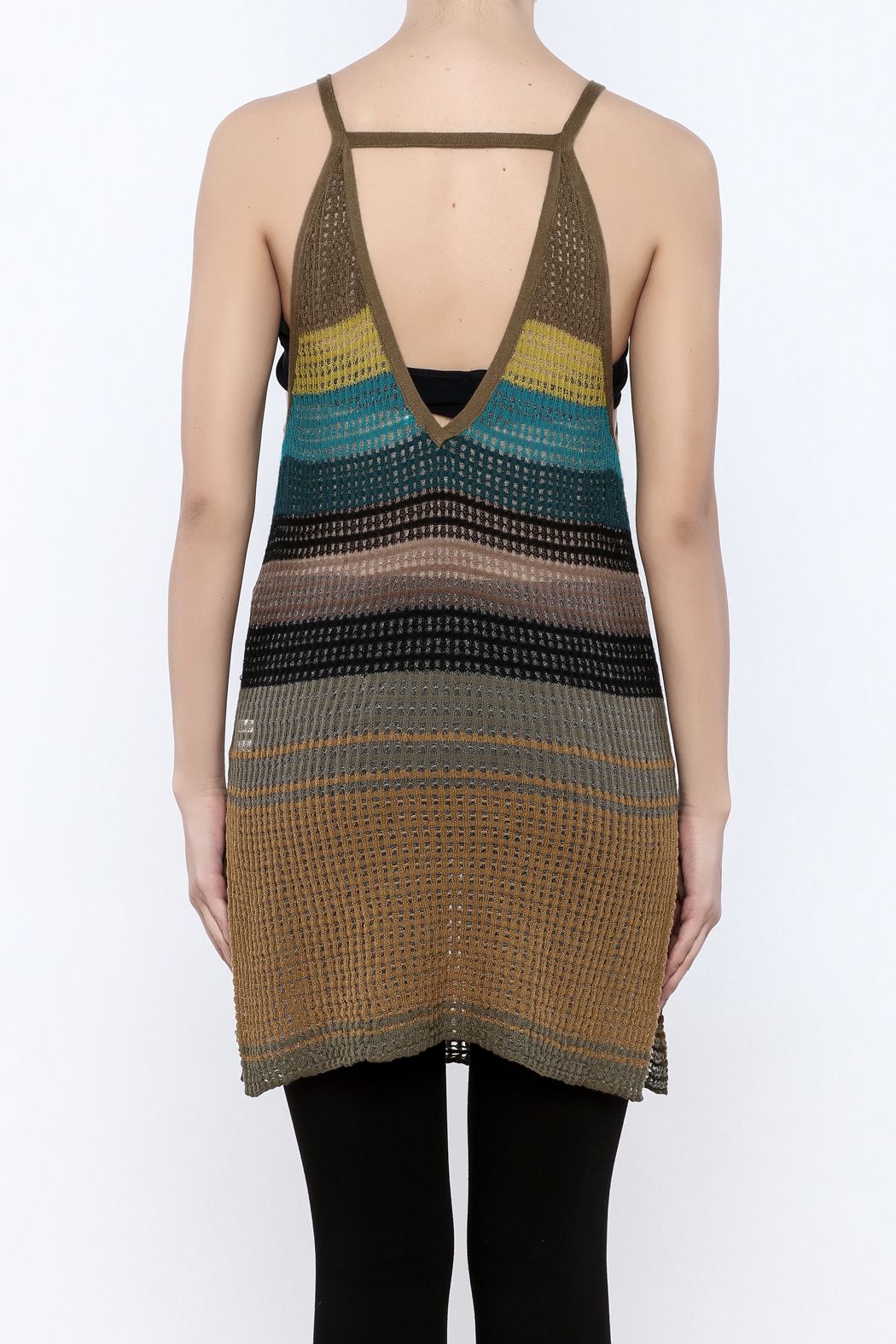 Free People Gossamer Knit Tank - Back Cropped Image