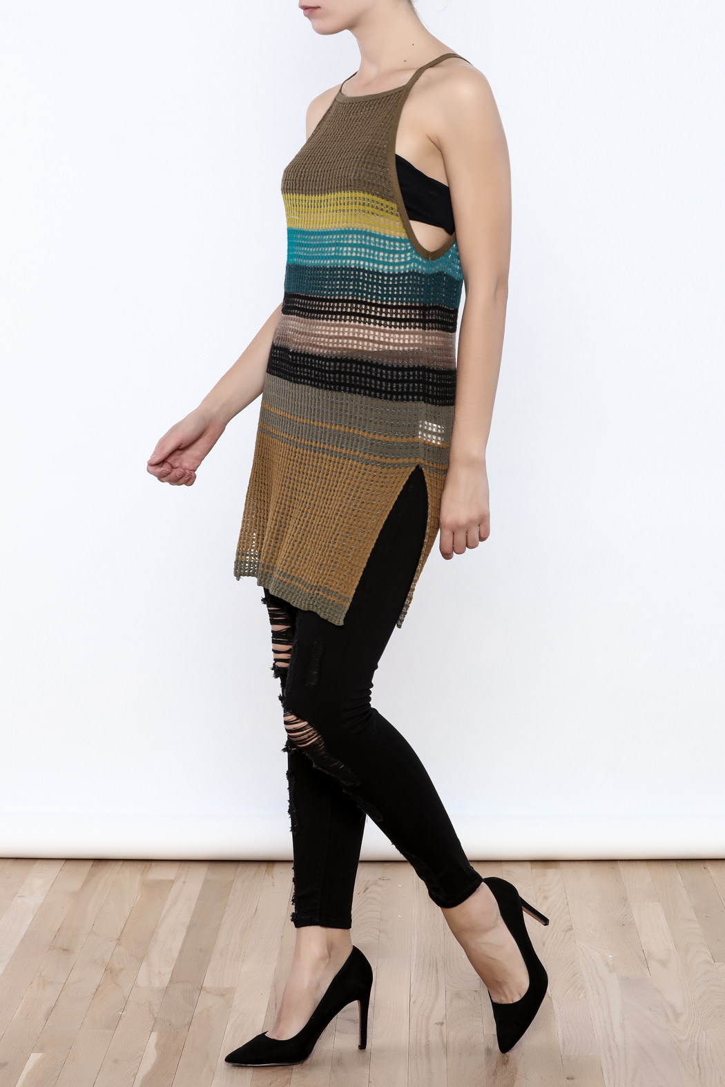 Free People Gossamer Knit Tank - Front Full Image