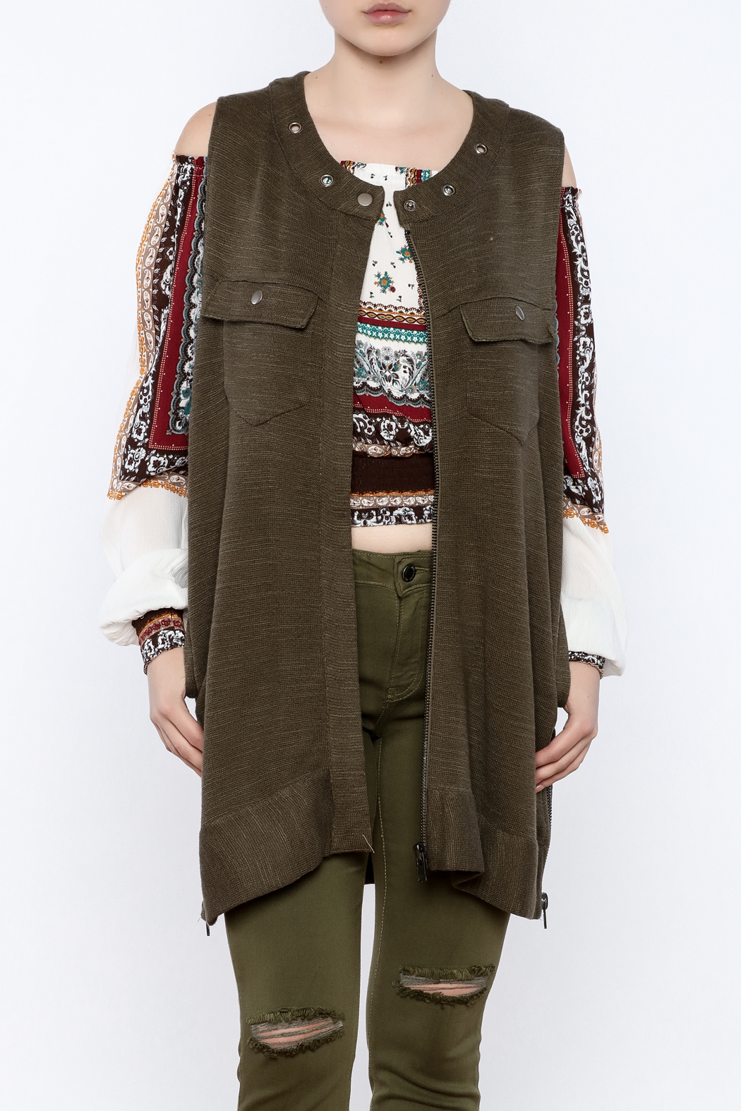 Free People Knit Highway Vest - Main Image