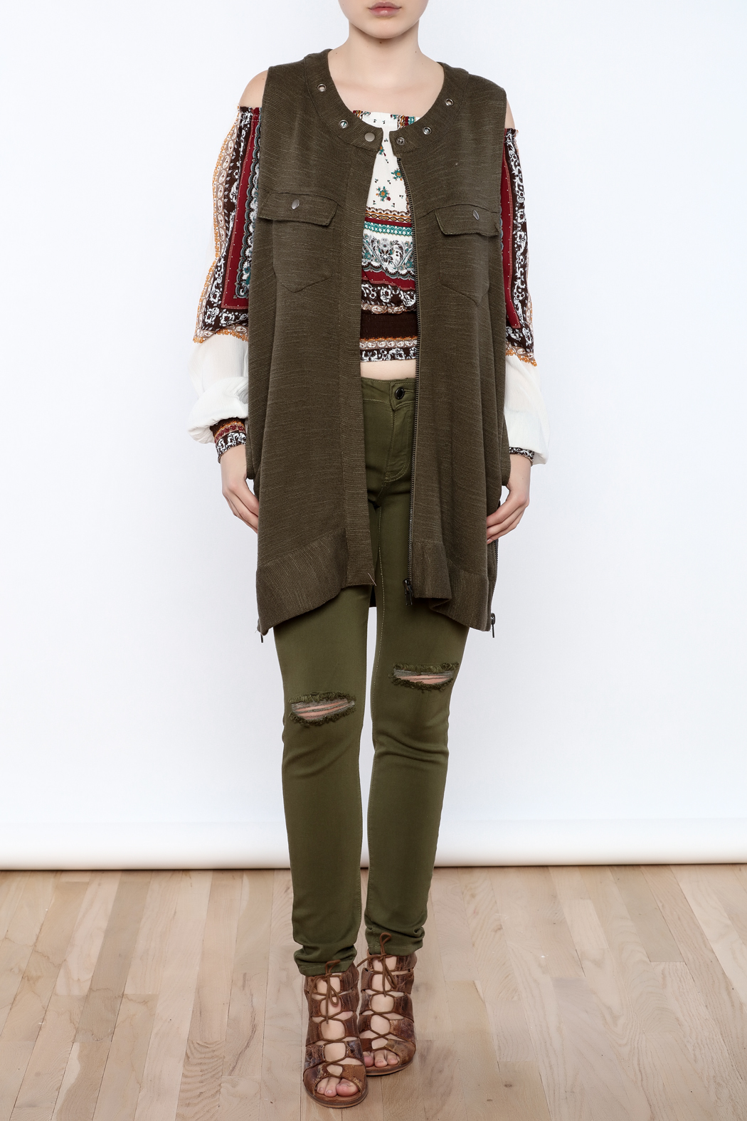 Free People Knit Highway Vest - Front Full Image