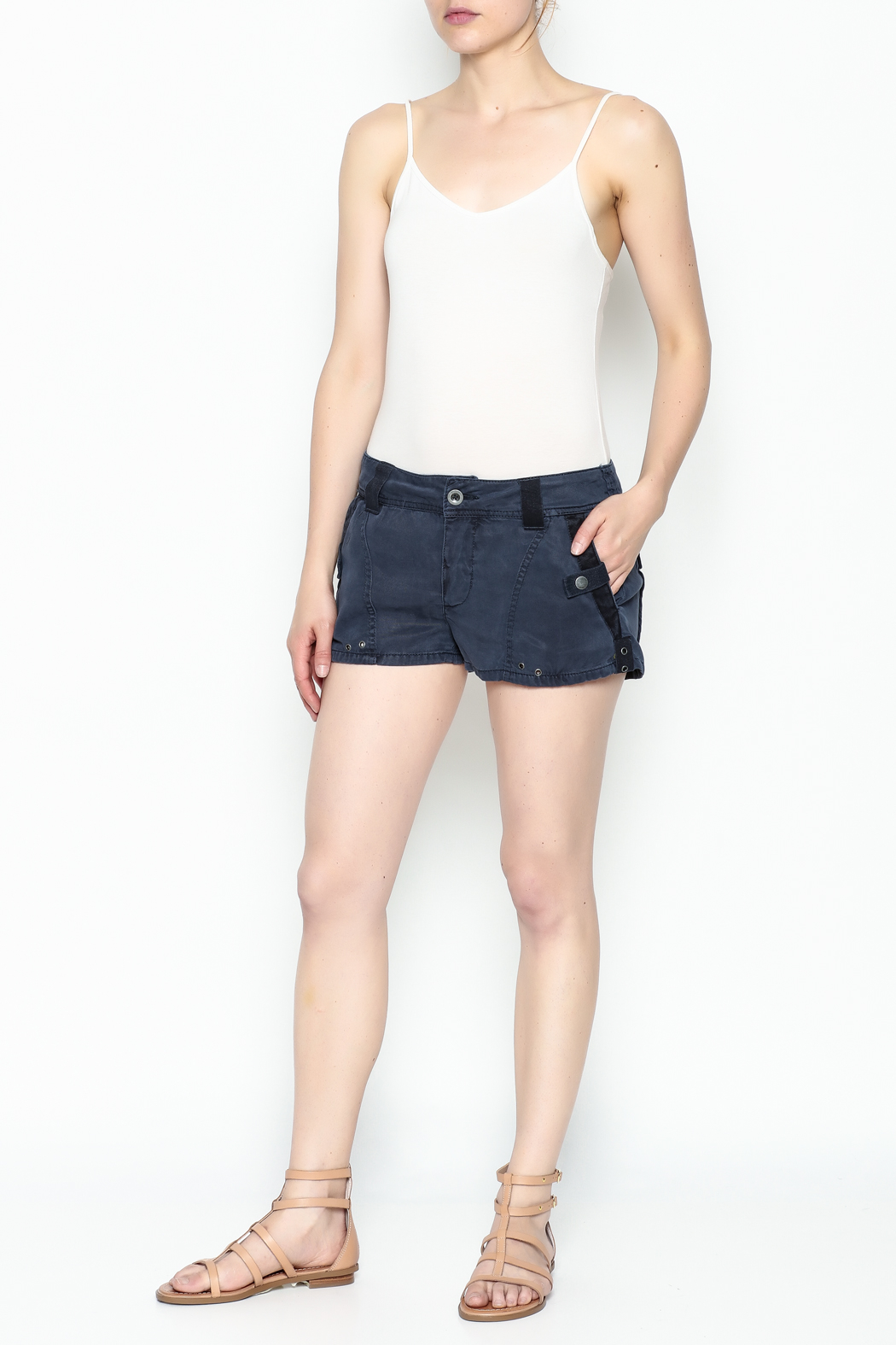 Free People Military Shorts - Side Cropped Image