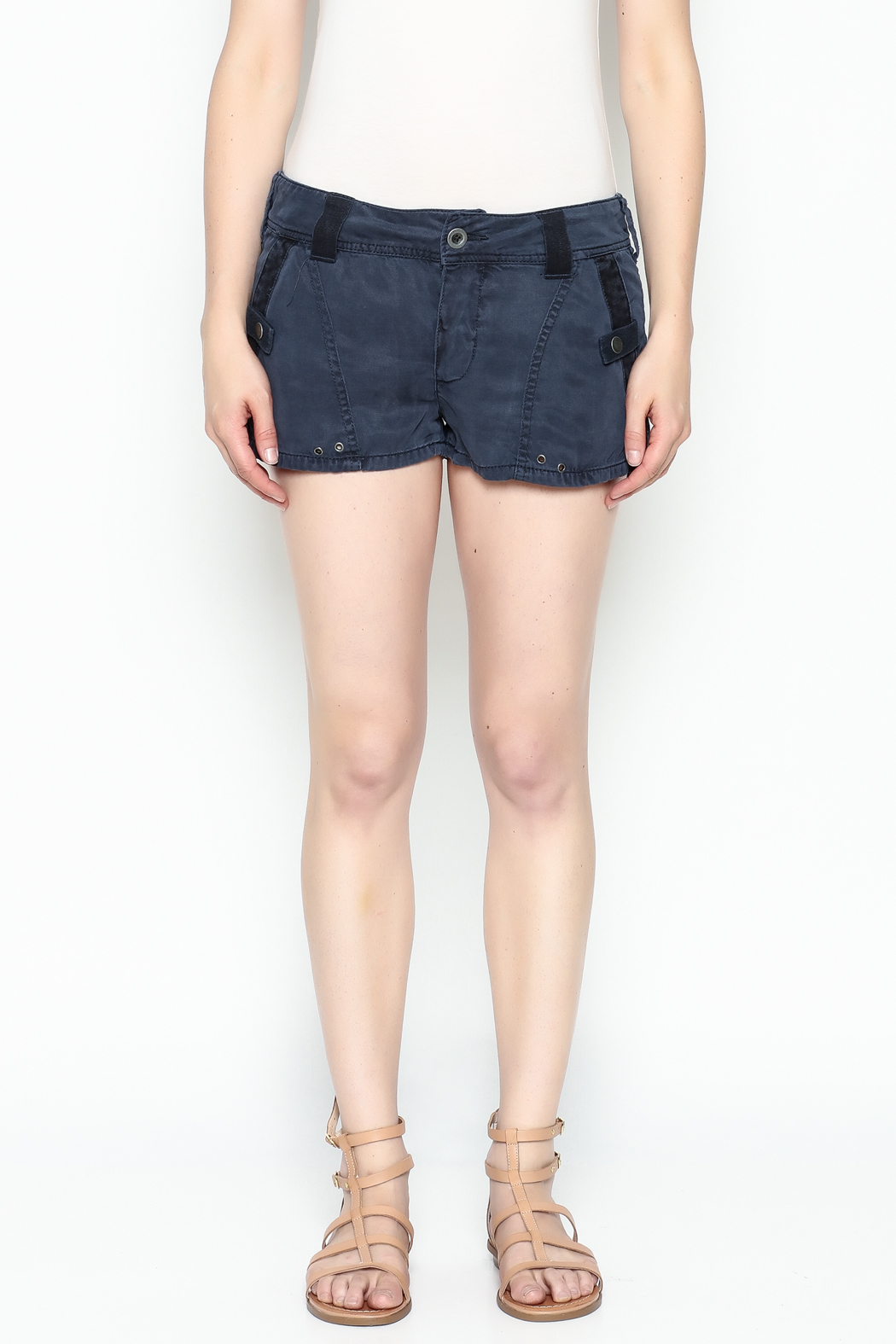 Free People Military Shorts - Front Full Image