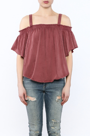 Free People Washed Maroon Top - Side cropped