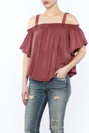 Free People Washed Maroon Top - Product Mini Image