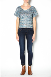 Free People Rainbow Wave Box Tee - Front full body