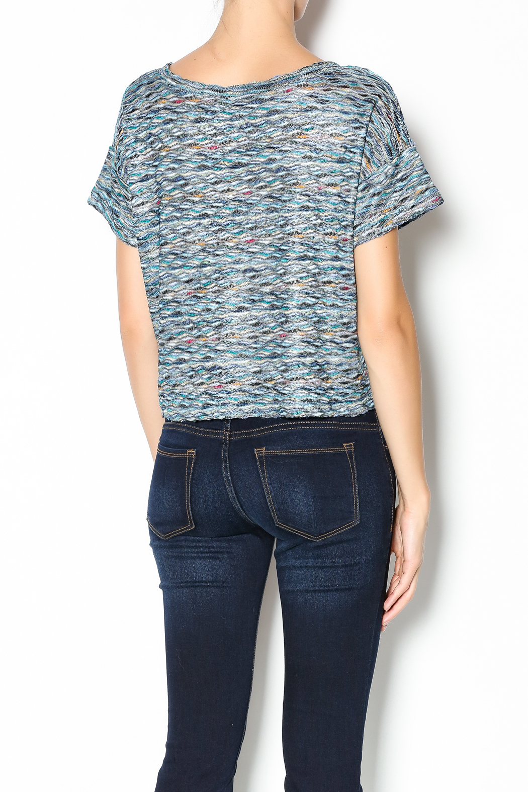Free People Rainbow Wave Box Tee - Back Cropped Image