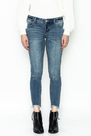 Free People Ripped Knee Skinny Jeans - Front full body