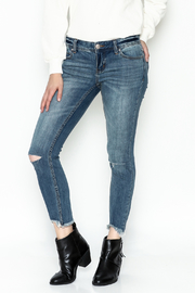 Free People Ripped Knee Skinny Jeans - Front cropped