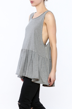 Shoptiques Product: Grey Sleeveless Tunic Top