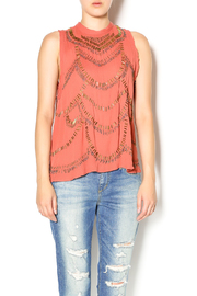 Free People Terracotta Embellished Top - Product Mini Image