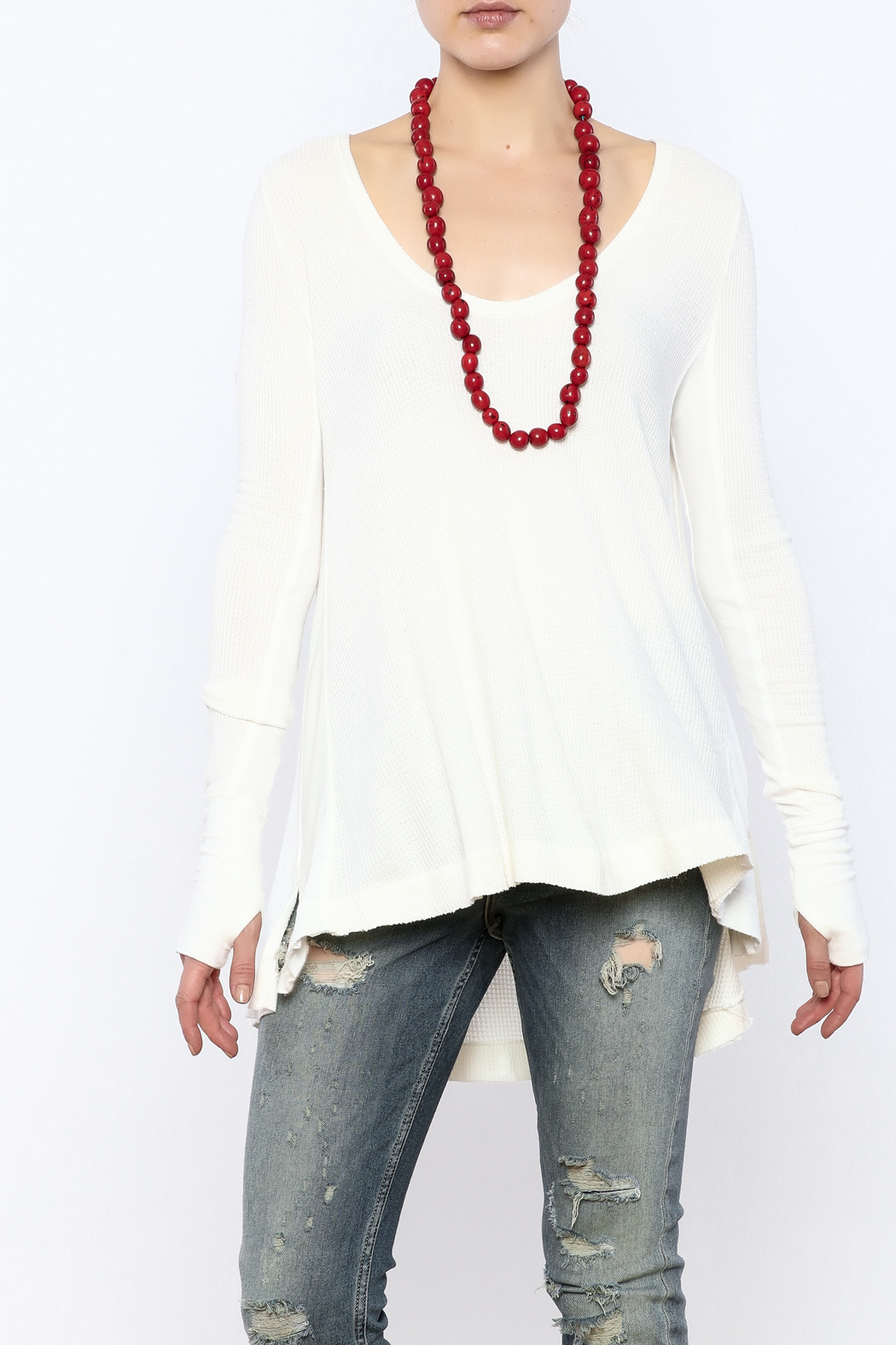 Free People Thermal Long Sleeve Top - Front Cropped Image