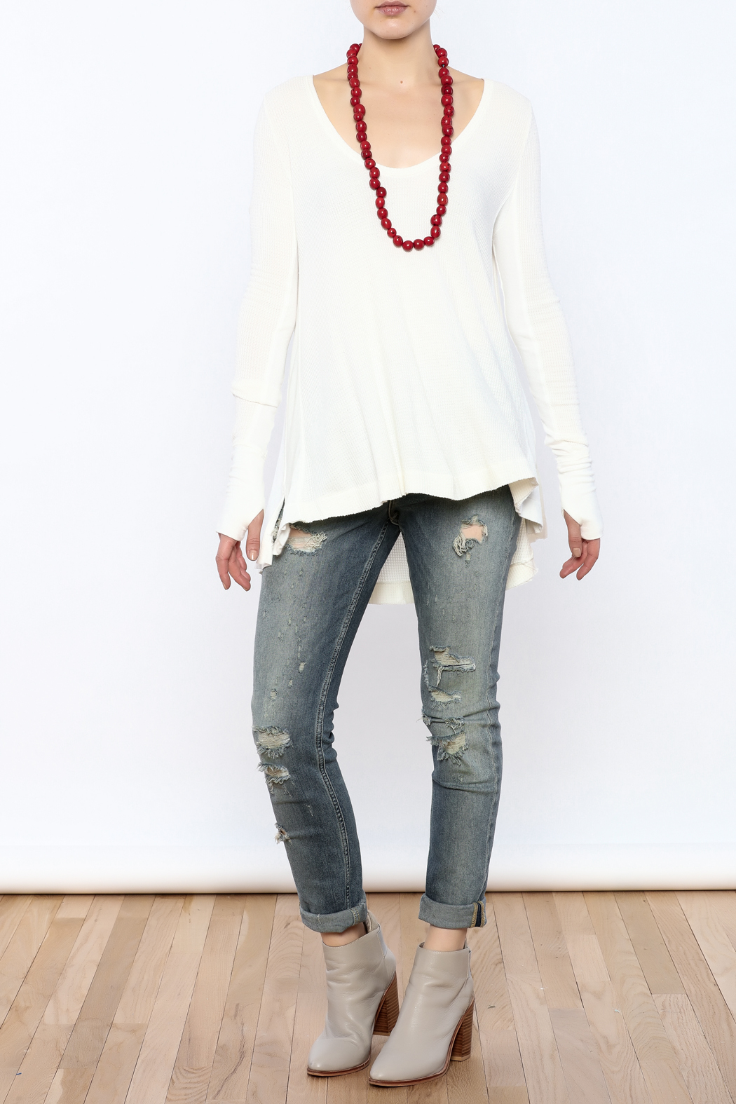 Free People Thermal Long Sleeve Top - Front Full Image