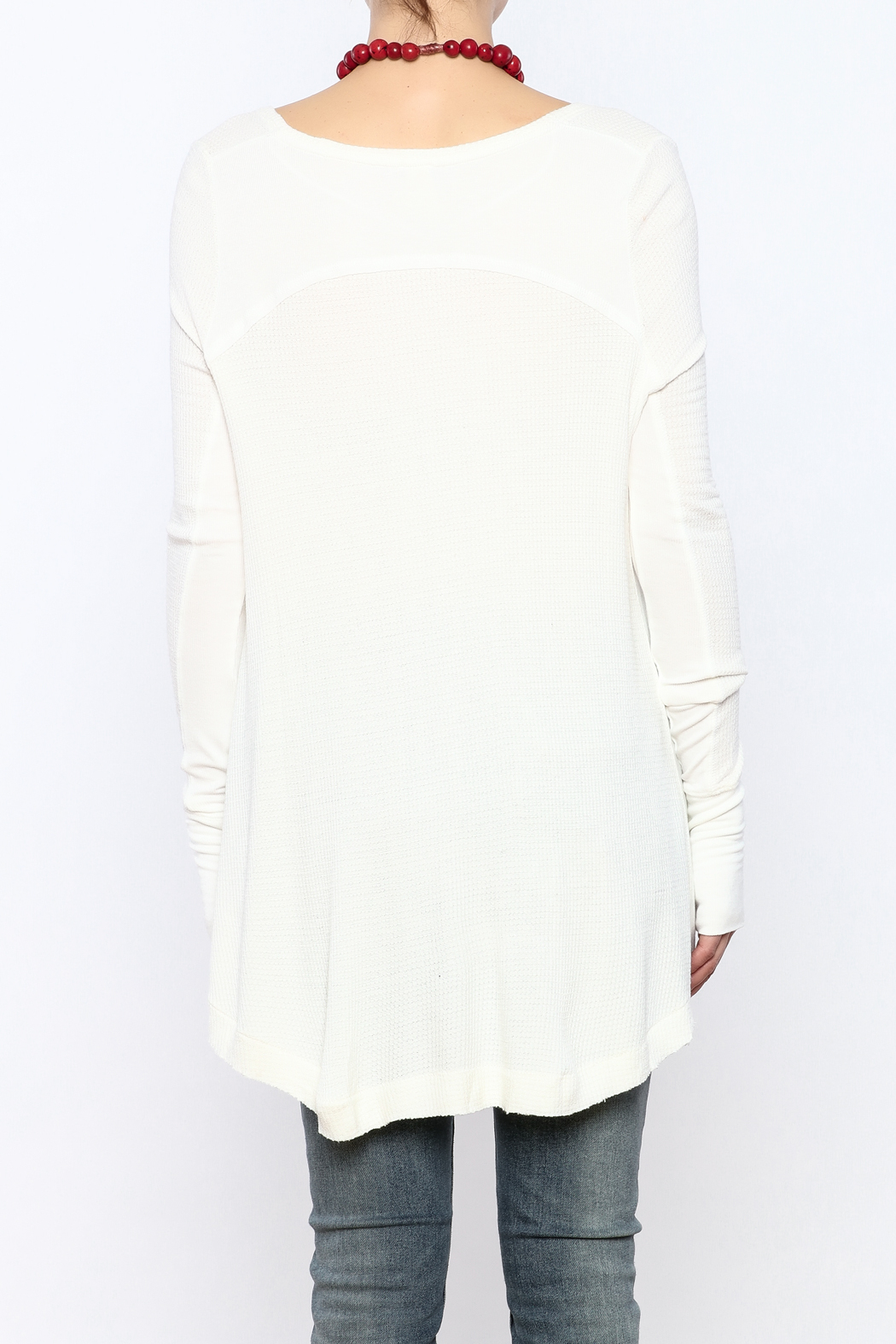 Free People Thermal Long Sleeve Top - Back Cropped Image