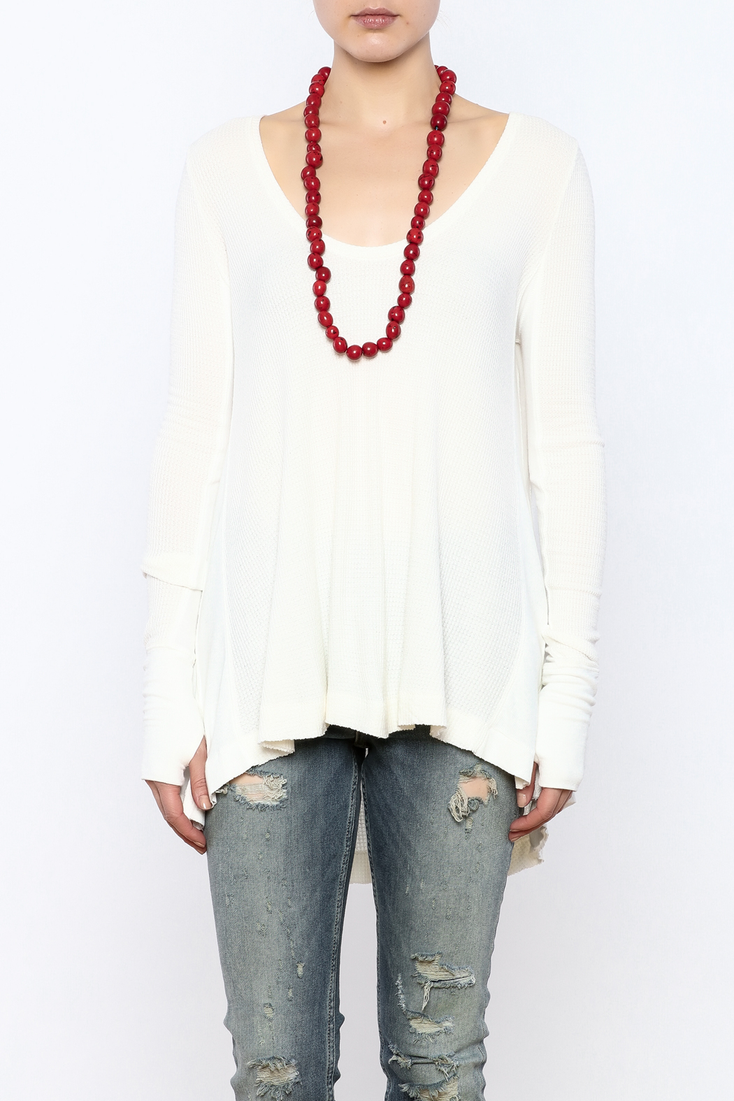 Free People Thermal Long Sleeve Top - Side Cropped Image