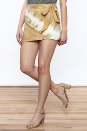 Free People Tan Tie-Dyed Skirt - Product Mini Image