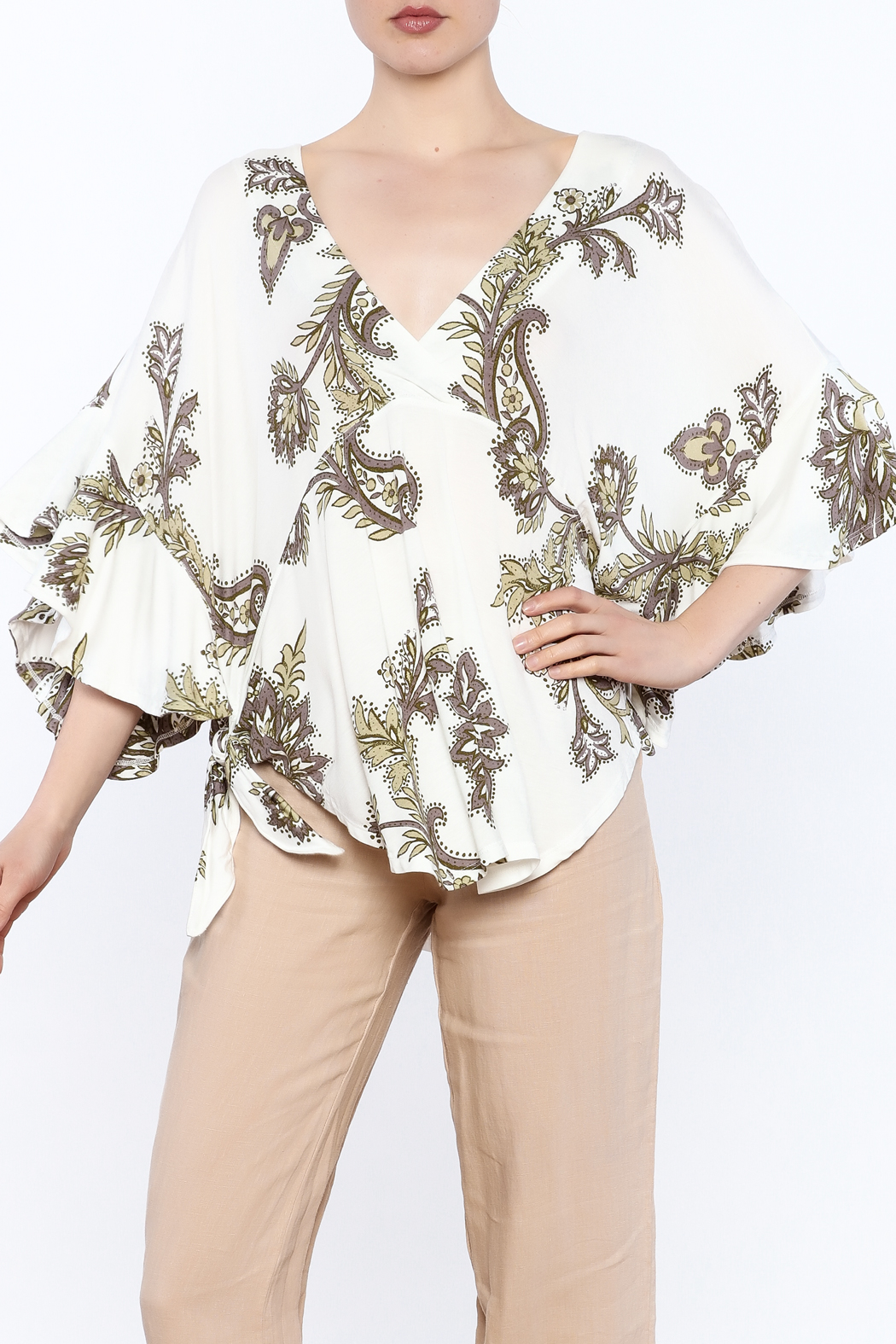 Free People Boho Floral Print Top From California By Blue Ox