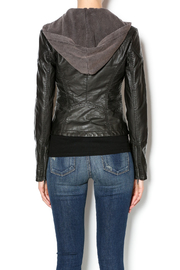 Free People Vegan Leather Jacket - Back cropped