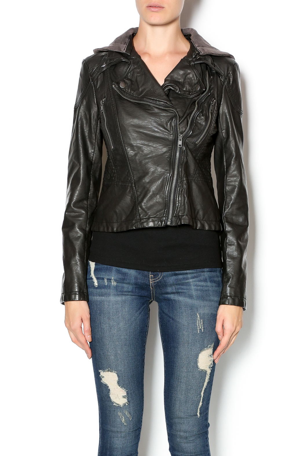 Free People Vegan Leather Jacket - Main Image